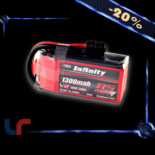 Lipo INFINITY 4S 1300mAh 100C RS Force Edition V2
